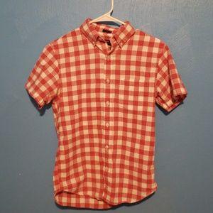 J Crew short sleeve oxford shirt Slim Small